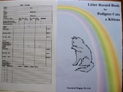 LITTER RECORD BOOK FOR KITTEN BREEDERS