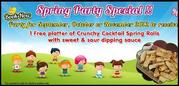Book Now for Kid's Party Special This Spring