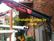 Hire Level 2 Electrician - Installing Power Poles & Overhead Lines