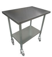 Buy stainless steel benches with wheels and castors
