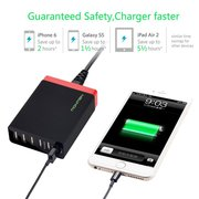 NewNow Quick Charge 3.0 30w 6-Port USB Wall Charger Travel Charger