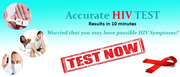 HIV Test Or STD Test – Fast,  Accurate Results in 10 minutes.