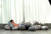 Living Stone Pebble Pillows ( 6Pcs/Set)