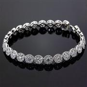 Wear the Beauty of Diamond Cluster Bracelet