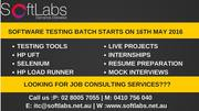 Software Testing - On-line & Class room Training Only for $1000