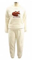 Fox Shaggy Fleece Twosie Ladies Pajama Set
