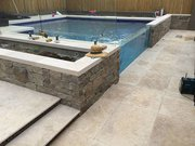Outdoor Travertine Tiler