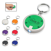 Disc Shaped Led Keychain by PapaChina