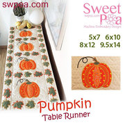 Pumpkin Quilt Block and Table Runner - Machine Embroidery Design
