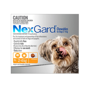 Nexgard Chewables For Dogs (2 - 4 Kg) Orange - Flea and Tick Treatment