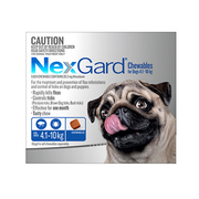 Nexgard Chewables For Dogs (4.1 - 10 Kg) Blue - Flea and Tick Treatmen