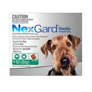 Nexgard Chewables Dogs (10.1 - 25 Kg) Green - Flea and Tick Treatment