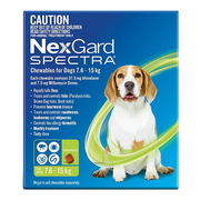 Nexgard Spectra for Medium Dog (7.6 - 15 Kg) Green - Protect Against F