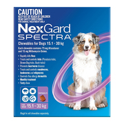 Nexgard Spectra for Dog (15.1 - 30 Kg) Purple - Protect Against Fleas