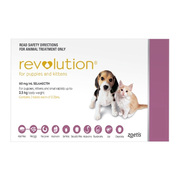Revolution for Puppies (upto 2.5Kg) - Protect Against Worms & Flea
