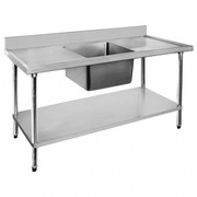 Fed Economic 304 Grade Stainless Steel Single Sink Benches 600 Deep 12