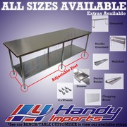 2134 X 762mm #304 Stainless Steel Bench