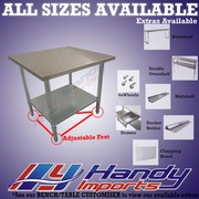 700X700mm 304 Stainless Steel Bench With Hole