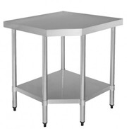 Stainless Steel Corner Food Grade Bench 900X610X900mm Commercial Kitch