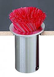 San Jamar L320C Counter Mounted Straw Dispenser
