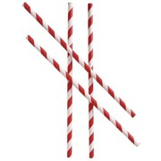 Regular Paper Straw Red & White Stripes (Pack of 250)