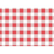 Red Gingham Greaseproof Paper 190x310mm