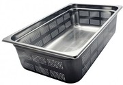1/1 Bain Marie Trays,  150mm Gastronorm Pans Steam Perforated Pans