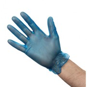 Vogue Vinyl Food Prep Gloves Blue Powdered Pack of 100 Small