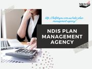 NDIS Plan Management Agency