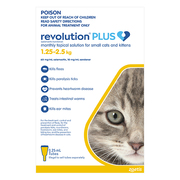 Revolution Plus for Kittens and Small Cats 1.25 - 2.5Kg (Yellow)