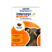 Interceptor Spectrum Chews For Dogs Up To 4Kg - 6 Packs