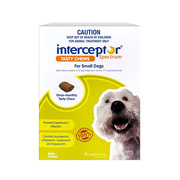 Buy online Interceptor Spectrum For Dogs 4-11kg (6 Chews)