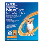 Buy Nexgard Spectra Very Small Dogs (2-3.5kg) Orange Online | VetSuppl