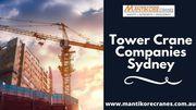 Tower Crane Companies Sydney