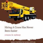 Cranes in Sydney