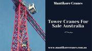 Tower Cranes for Sale Australia