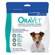 Oravet Dental Chews for Small Dogs ( 4.5 kg to 11 kg) 28 Pieces