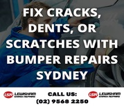Fix Cracks,  Dents,  or Scratches with Bumper Repairs Sydney