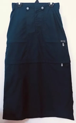 Cargo Skirts Convertible Long To Short Navy Blue Size 8-14