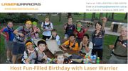 Host Fun-Filled Birthday with Laser Warrior