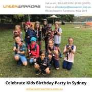 Celebrate Kids Birthday Party In Sydney - www.laserwarriors.com.au