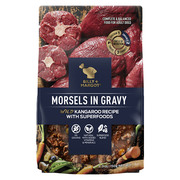 Buy Branded Billy & Margot Adult Morsels in gravy Wild Kangaroo and Su