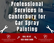 Professional Services in Canterbury for Car Spray Painting
