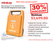 Mindray Defibrillator BeneHeart C1A Public AED