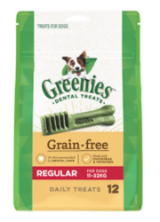 Buy Greenies Grain Free Regular Dog Dental Treat 11-22 kg| Dog Food|