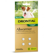 Buy Drontal Wormer Tablets for Small Dogs and Puppies Green Pack