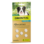 Buy Drontal Wormer Tablets for Medium Dogs Aqua Pack   Online