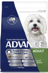 ADVANCE Triple Action Dental Care Small Adult Dry Dog Food-VetSupply
