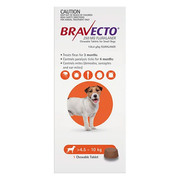 Buy Bravecto For Small Dogs 4.5-10Kg (Orange) Online   DiscountPetCare