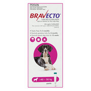 Buy Bravecto For Extra Large Dogs 40-56Kg (Pink) Online